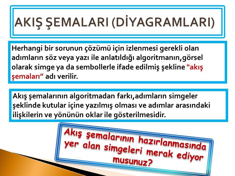 AKIŞ ŞEMALARI (DİYAGRAMLARI)