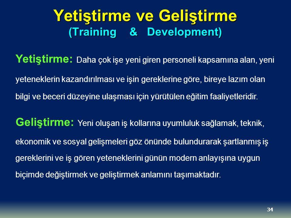 Yetiştirme ve Geliştirme (Training & Development)