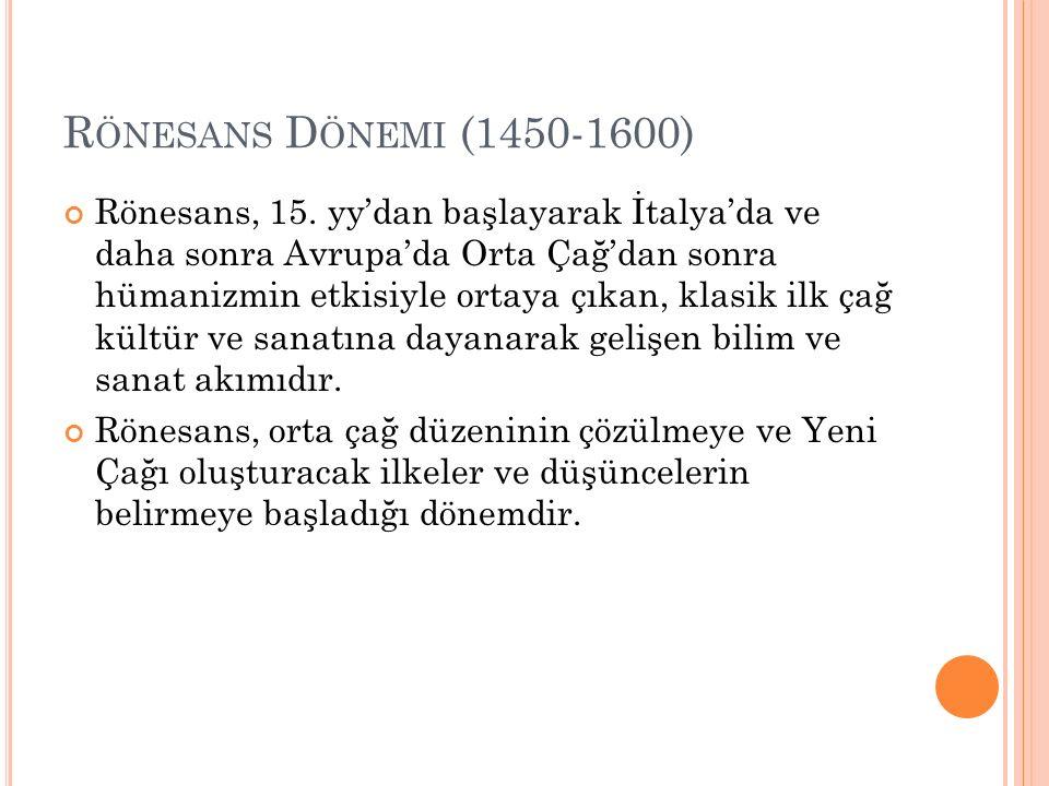 Rönesans Dönemi (1450-1600)