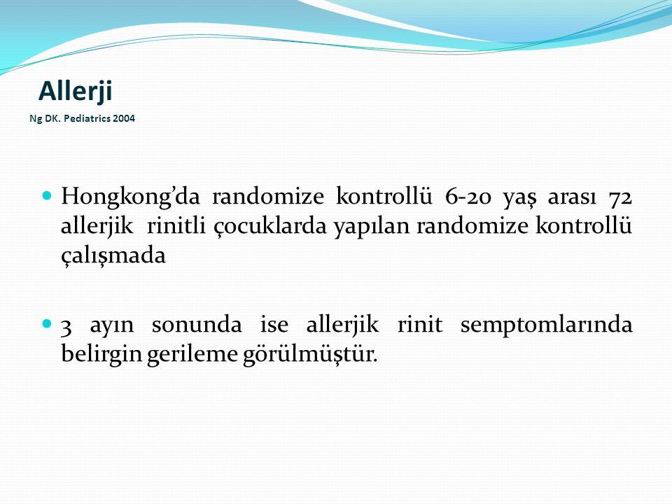 Allerji Ng DK. Pediatrics 2004