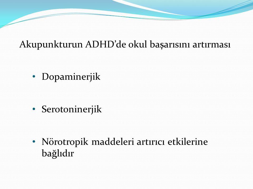 Akupunkturun ADHD'de okul başarısını artırması