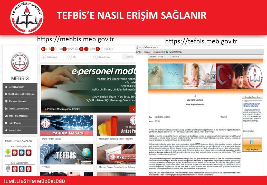 TEFBİS'E NASIL ERİŞİM SAĞLANIR