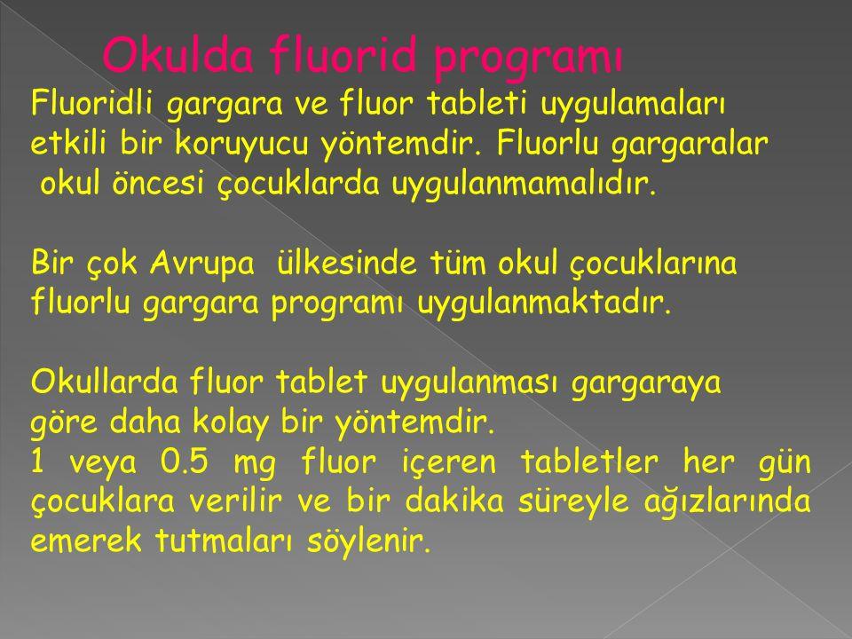 Okulda fluorid programı