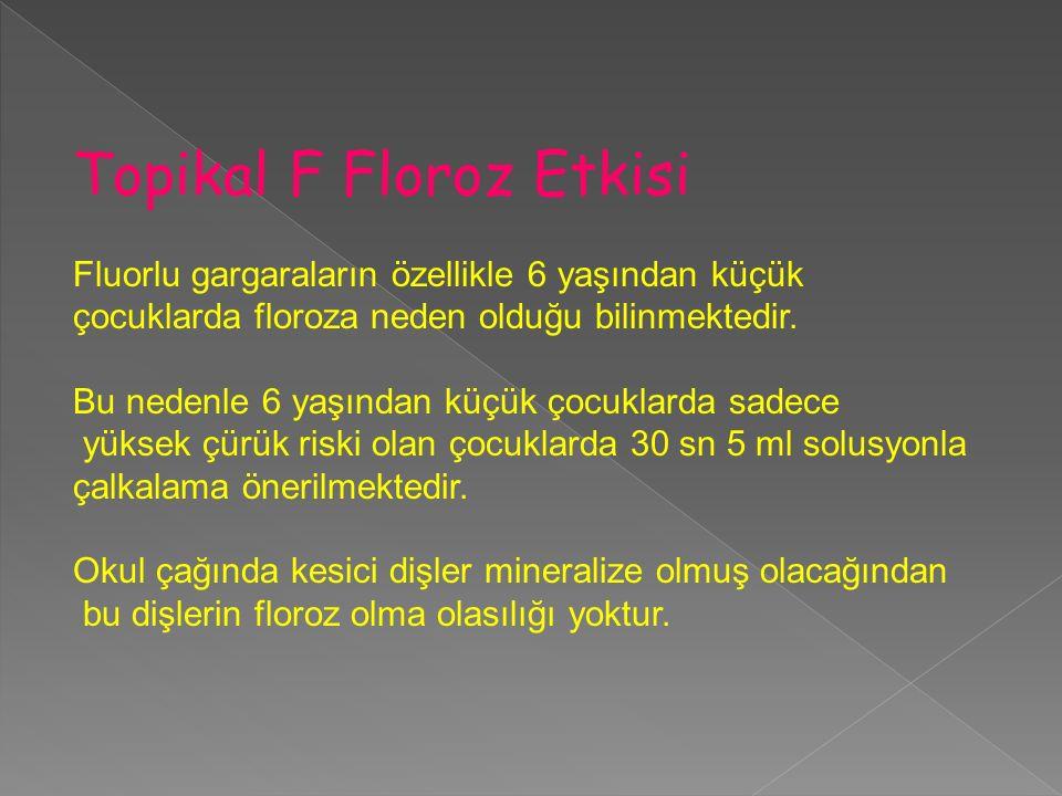 Topikal F Floroz Etkisi