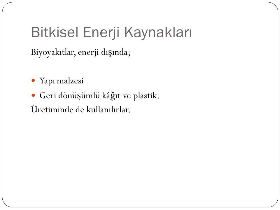 Bitkisel Enerji Kaynakları