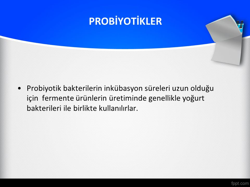 PROBİYOTİKLER