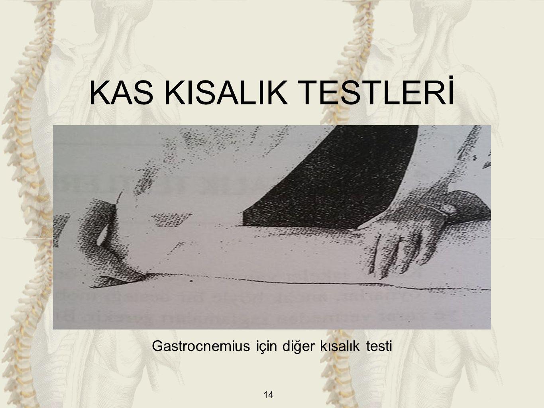 Gastrocnemius için diğer kısalık testi
