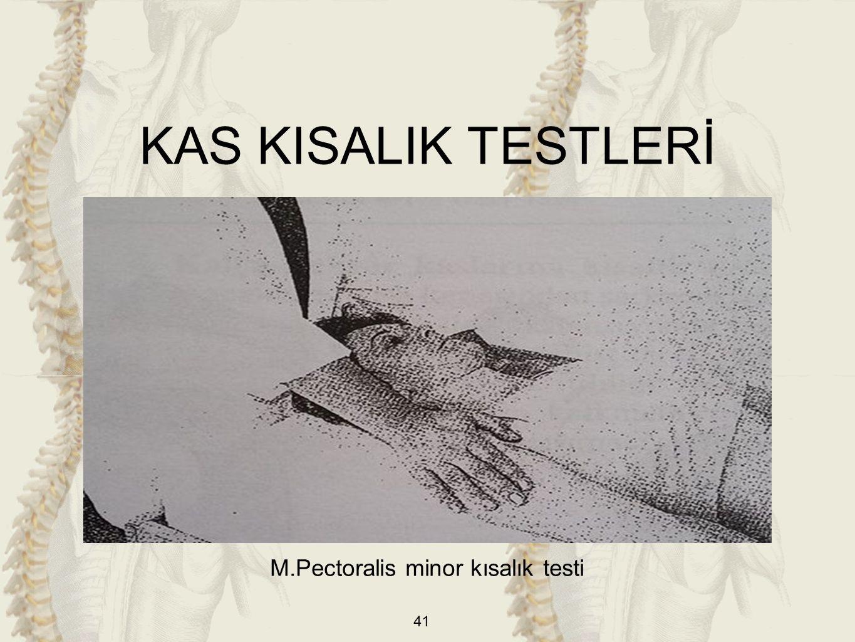 M.Pectoralis minor kısalık testi