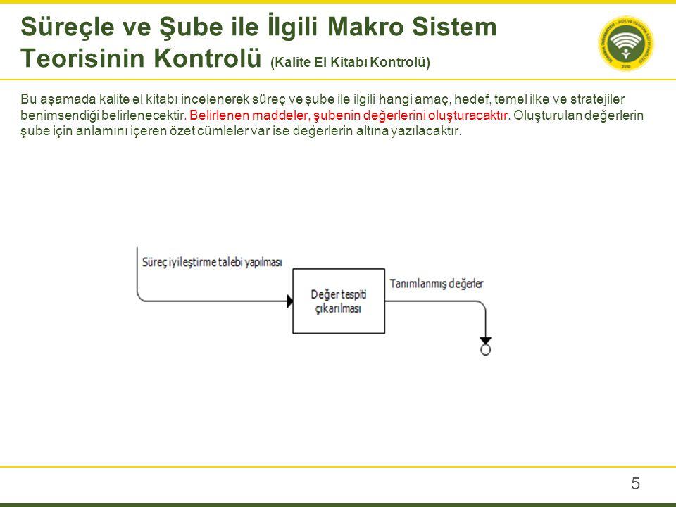 Süreçle ve Şube ile İlgili Makro Sistem Teorisinin Kontrolü (Kalite El Kitabı Kontrolü)