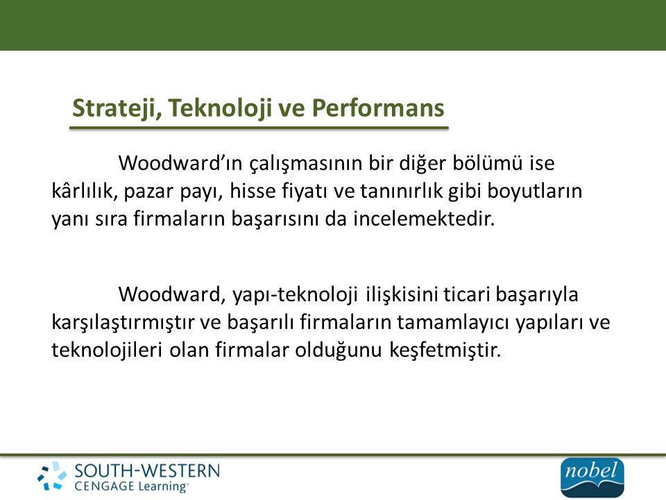 Strateji, Teknoloji ve Performans