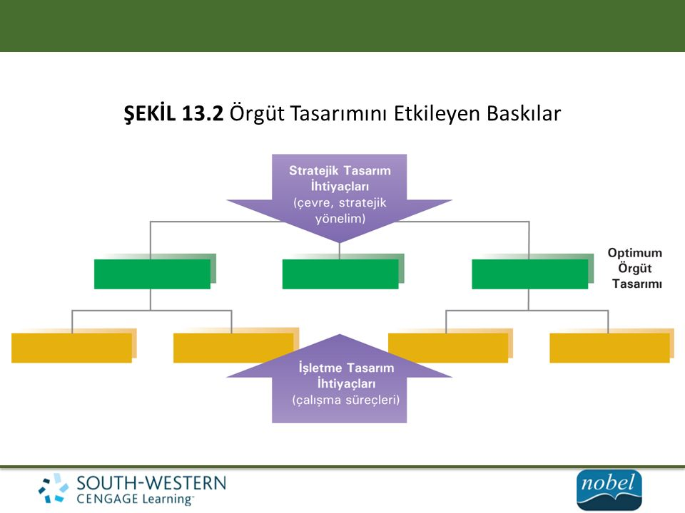 ŞEKİL 13.2 Örgüt Tasarımını Etkileyen Baskılar