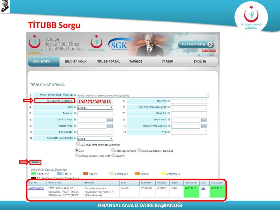 TİTUBB Sorgu 10637320050018