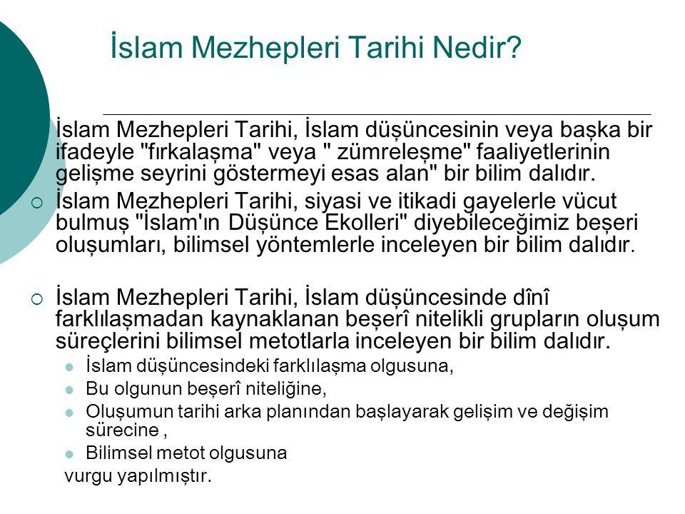 İslam Mezhepleri Tarihi Nedir