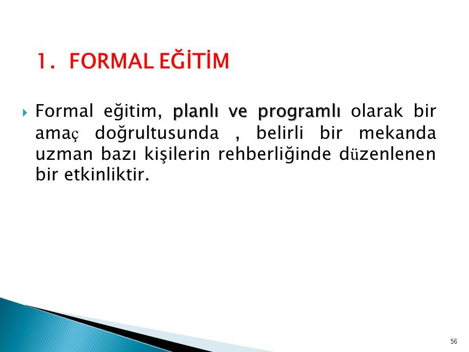 1. FORMAL EĞİTİM