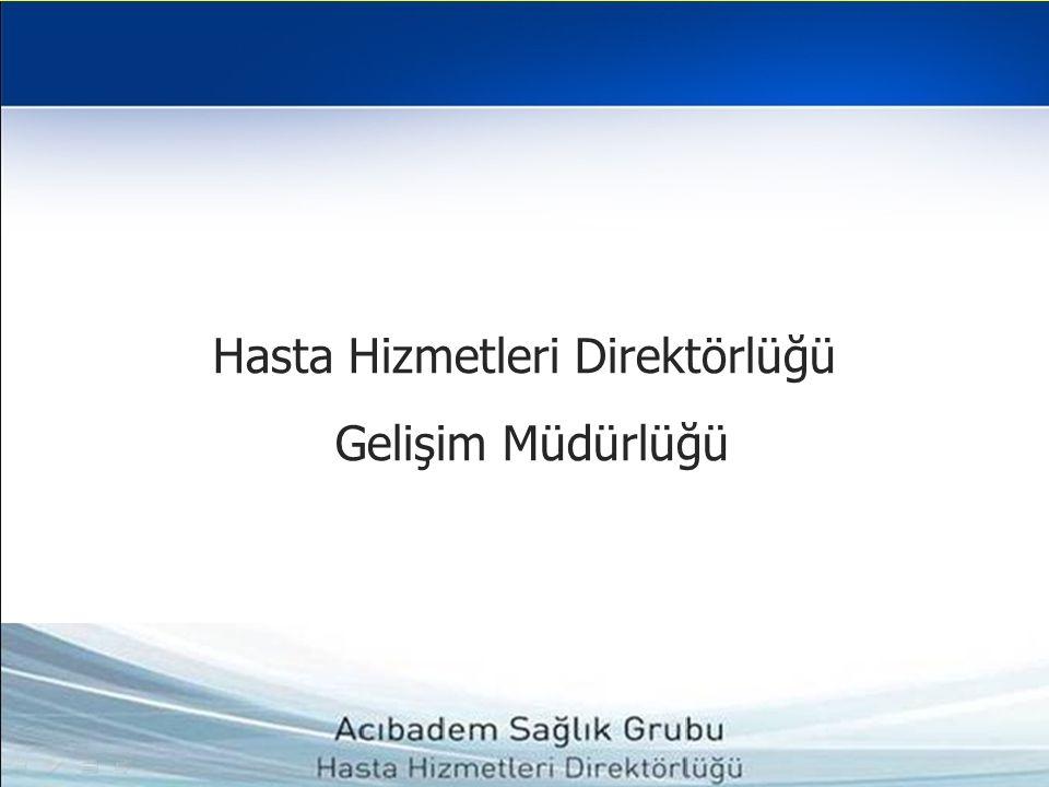 Hasta Hizmetleri Direktörlüğü Gelişim Müdürlüğü