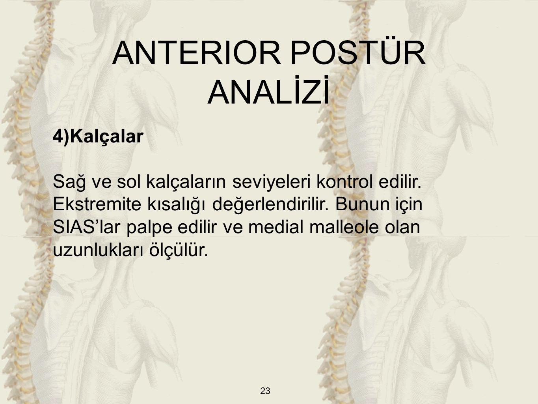 ANTERIOR POSTÜR ANALİZİ