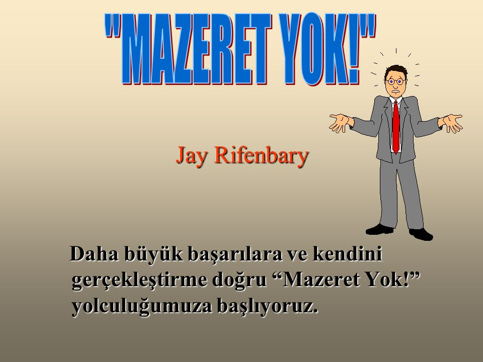 MAZERET YOK! Jay Rifenbary