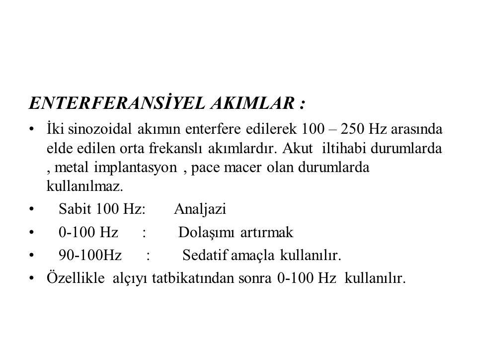 ENTERFERANSİYEL AKIMLAR :