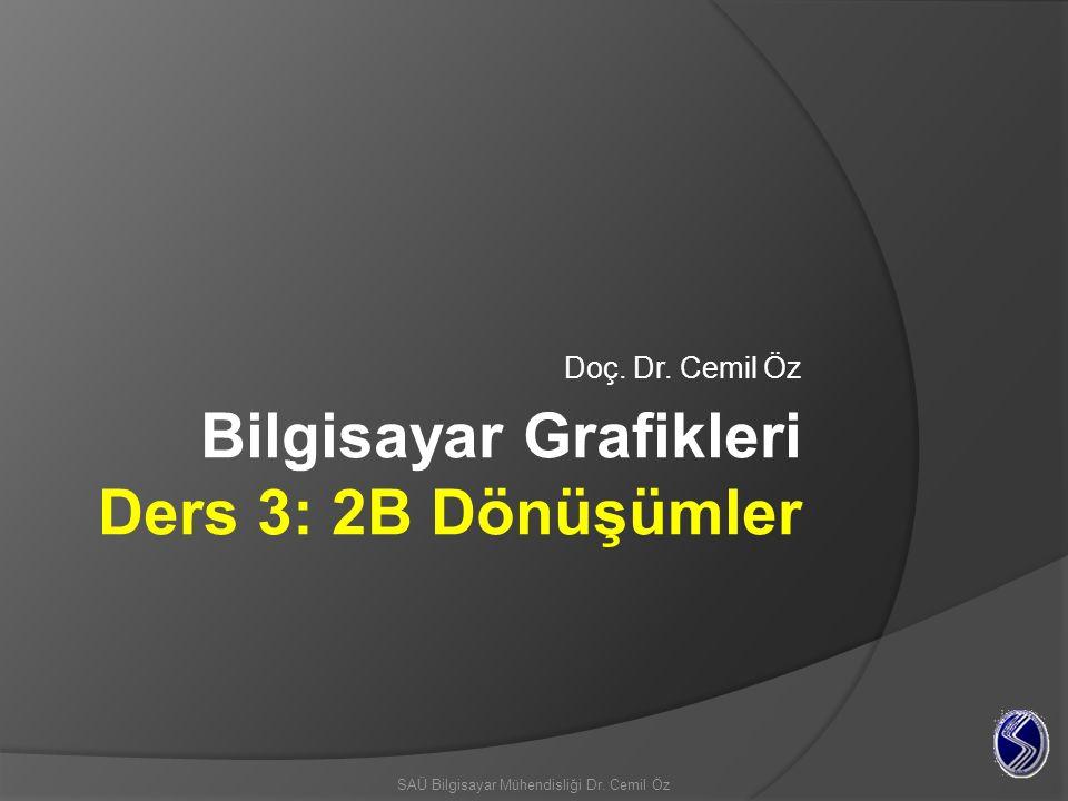 Bilgisayar Grafikleri Ders 3: 2B Dönüşümler