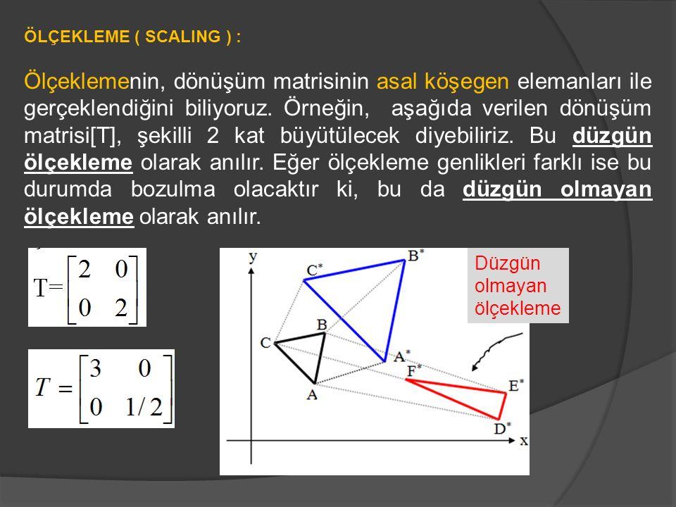 ÖLÇEKLEME ( SCALING ) :
