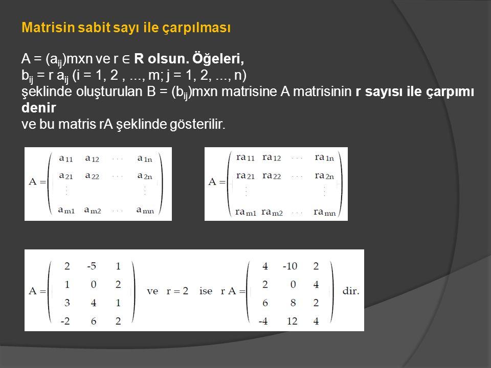 Matrisin sabit sayı ile çarpılması
