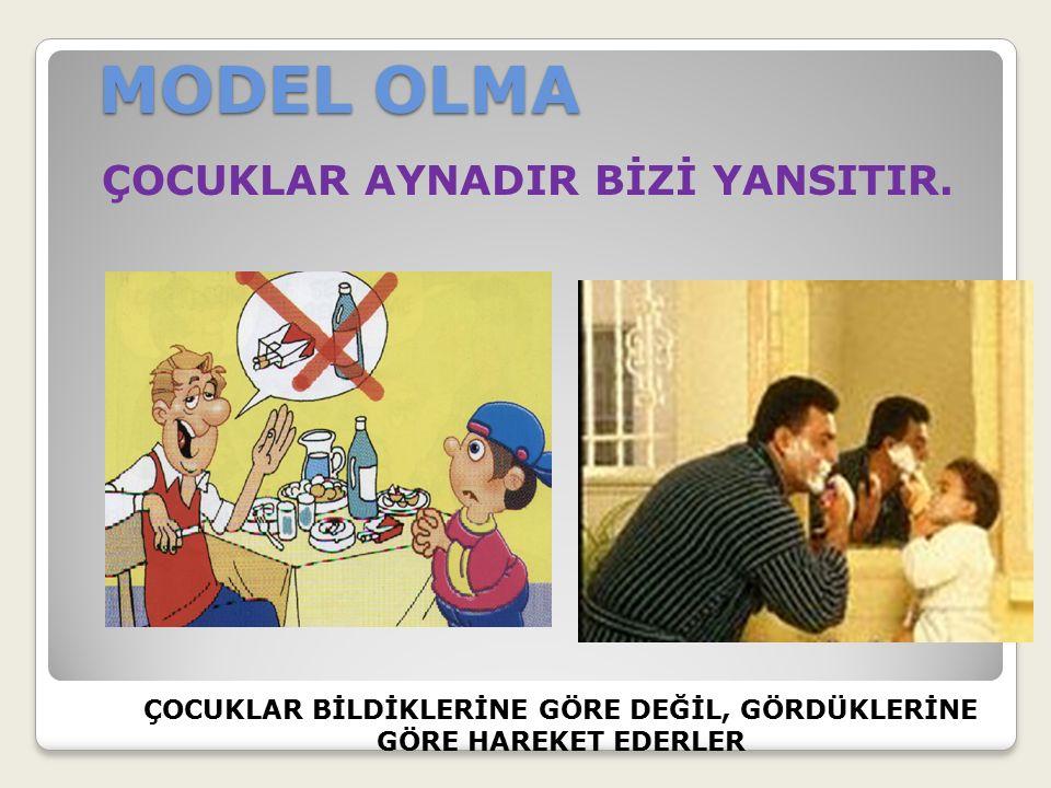 MODEL OLMA ÇOCUKLAR AYNADIR BİZİ YANSITIR.