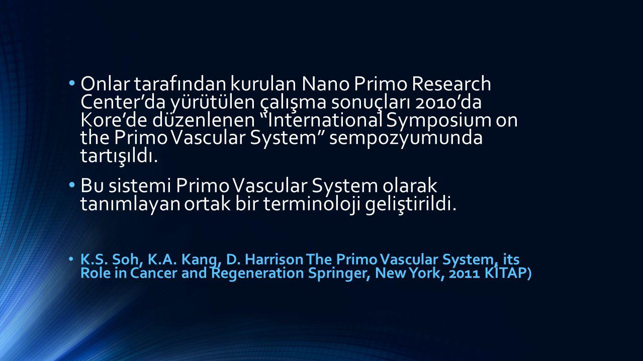 Onlar tarafından kurulan Nano Primo Research Center'da yürütülen çalışma sonuçları 2010'da Kore'de düzenlenen International Symposium on the Primo Vascular System sempozyumunda tartışıldı.