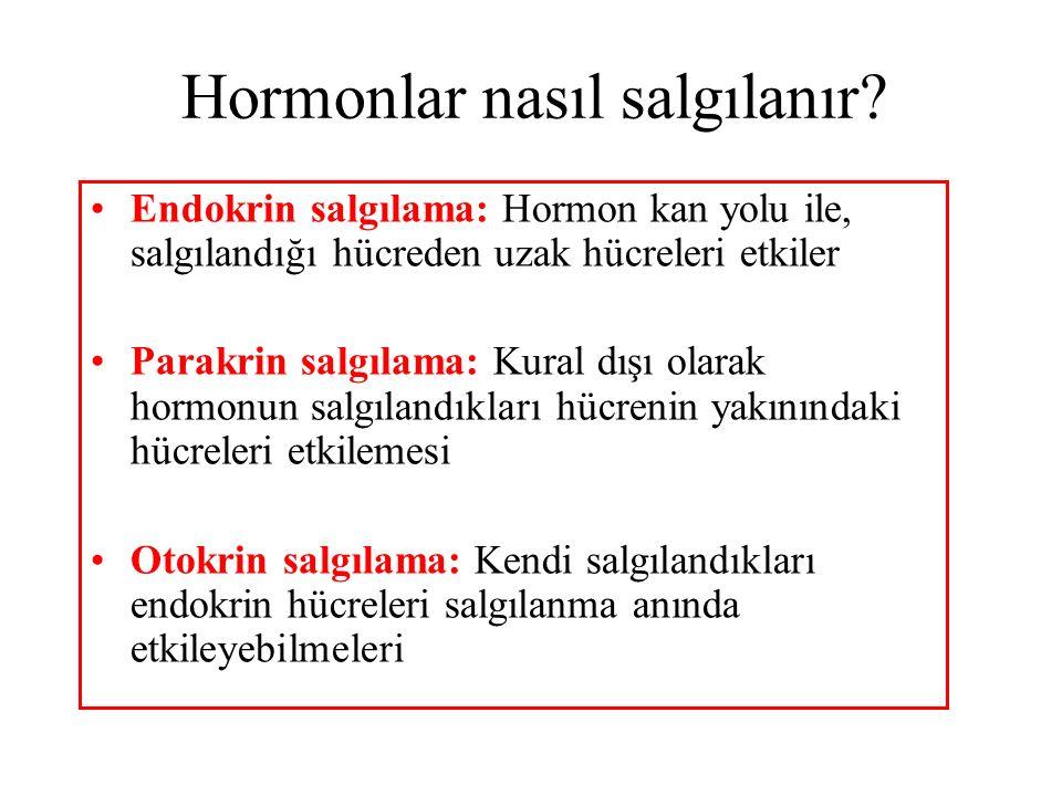 Hormonlar nasıl salgılanır