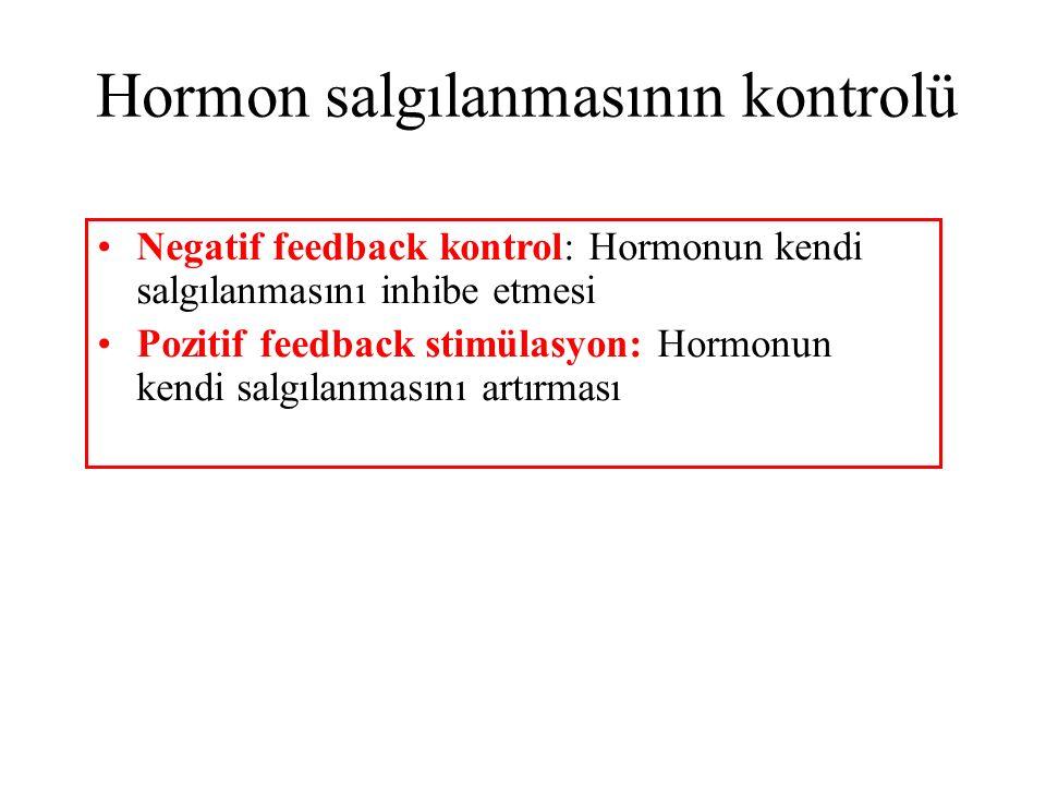 Hormon salgılanmasının kontrolü