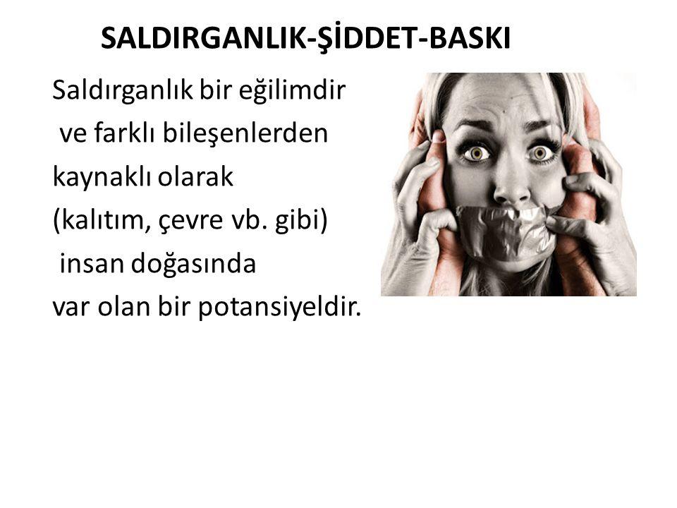 SALDIRGANLIK-ŞİDDET-BASKI