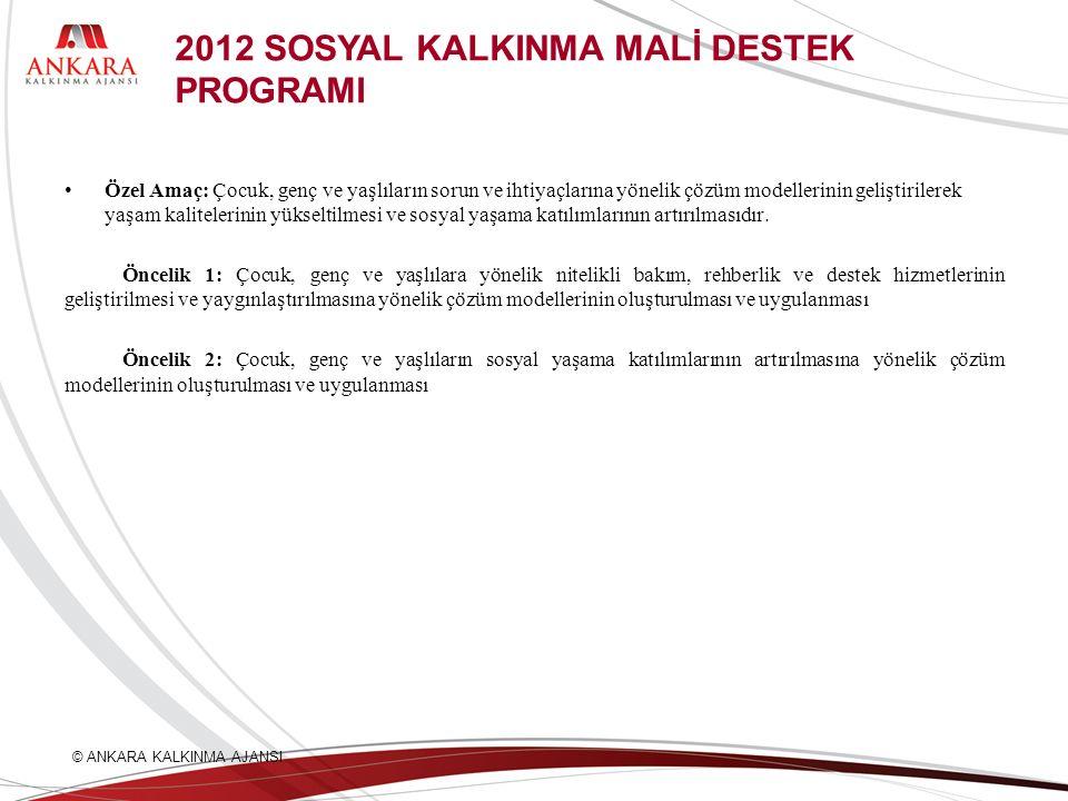 2012 SOSYAL KALKINMA MALİ DESTEK PROGRAMI