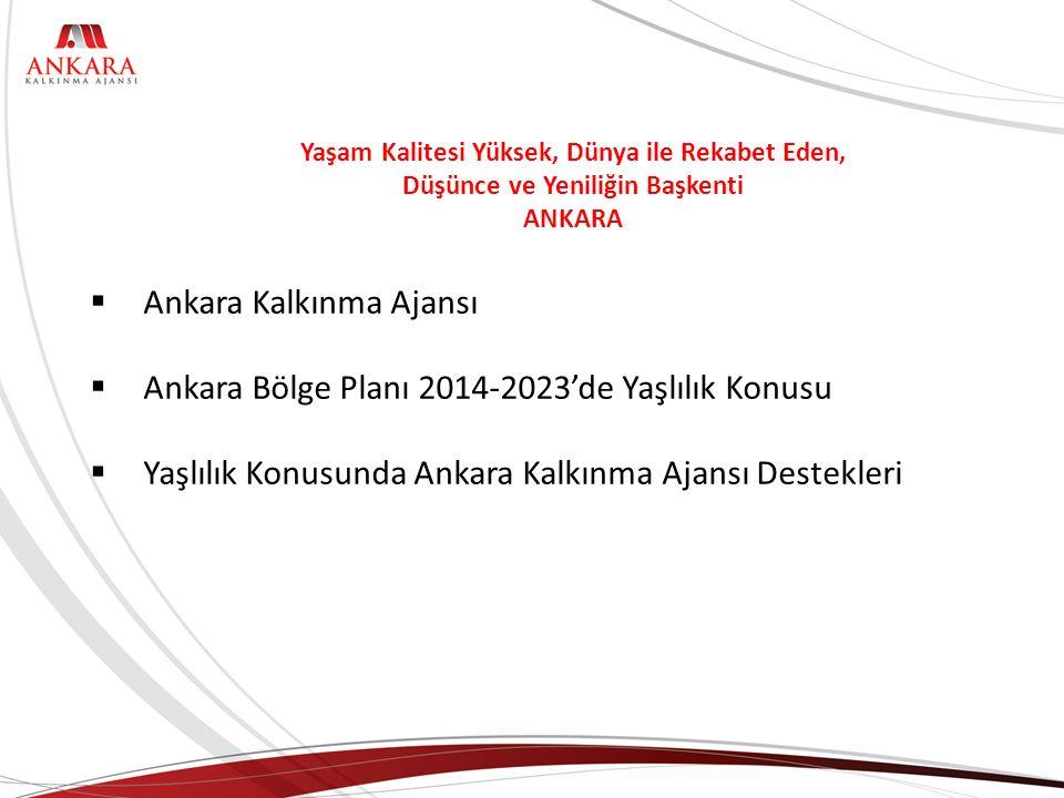 Ankara Kalkınma Ajansı Ankara Bölge Planı 2014-2023'de Yaşlılık Konusu