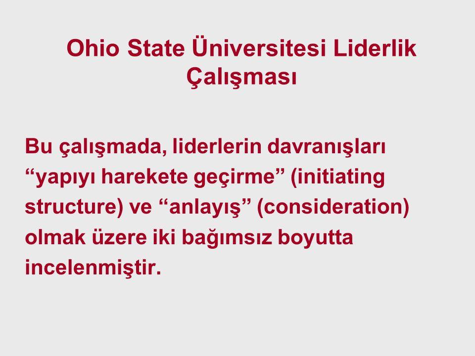Ohio State Üniversitesi Liderlik Çalışması