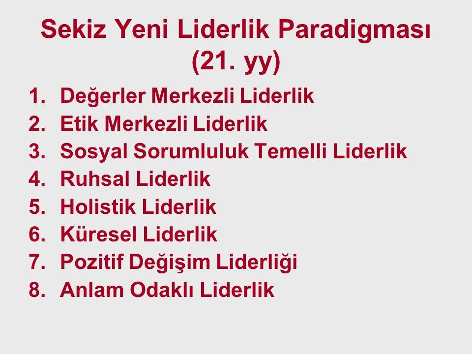 Sekiz Yeni Liderlik Paradigması (21. yy)