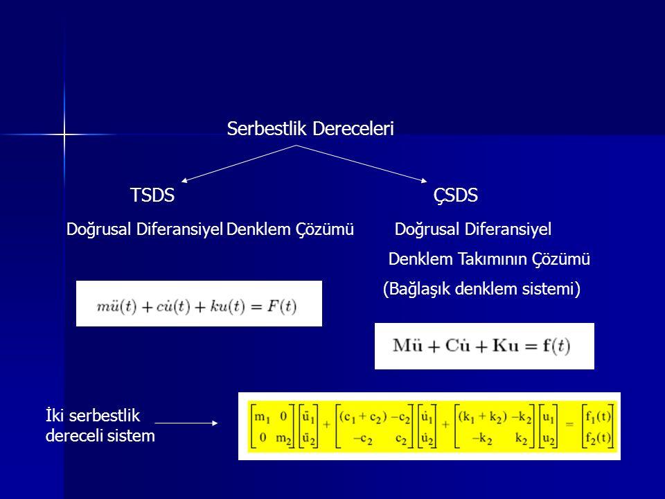 TSDS ÇSDS Serbestlik Dereceleri
