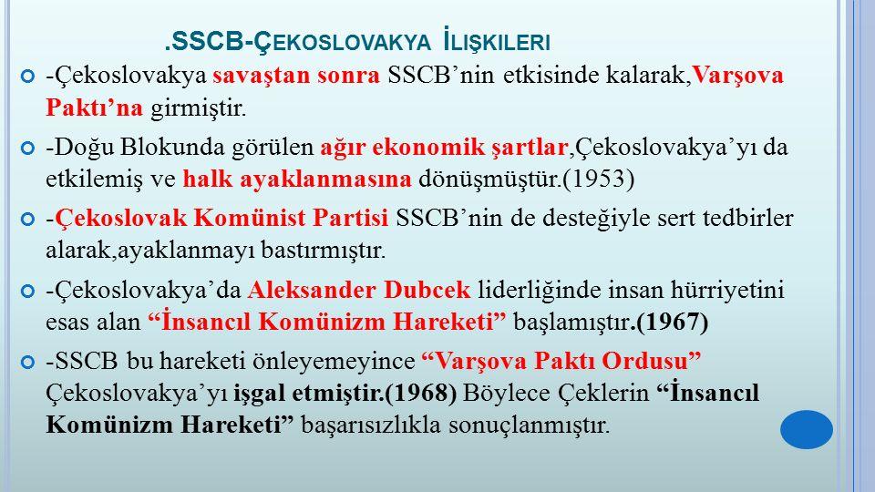 .SSCB-Çekoslovakya İlişkileri