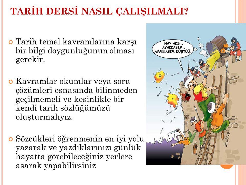 TARİH DERSİ NASIL ÇALIŞILMALI