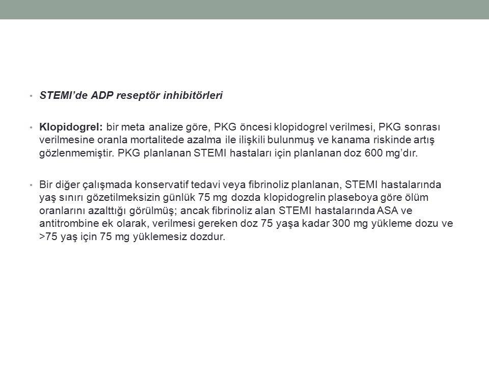STEMI'de ADP reseptör inhibitörleri
