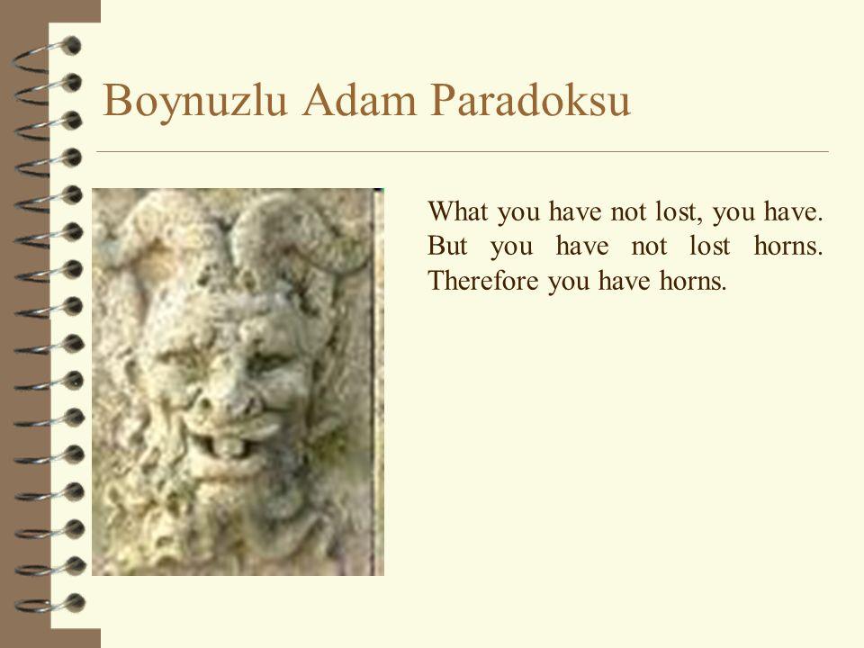 Boynuzlu Adam Paradoksu
