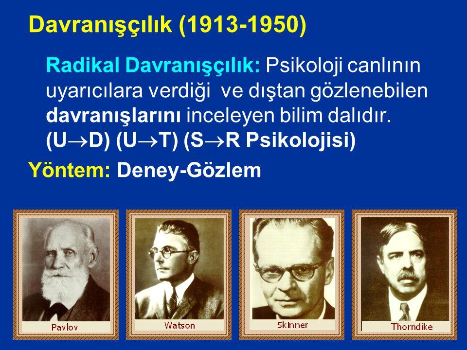 Davranışçılık (1913-1950)