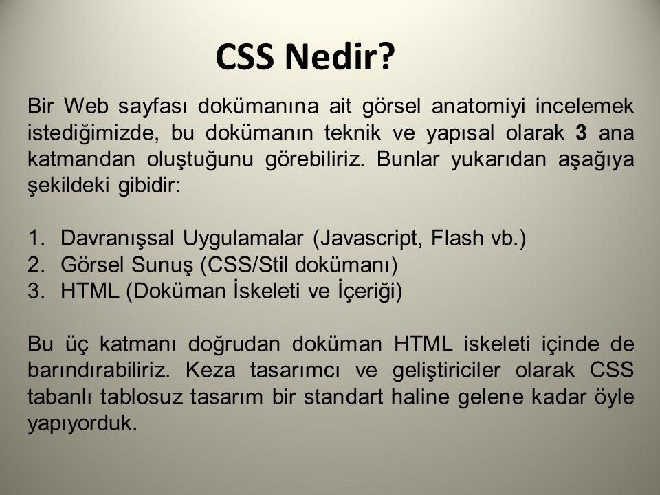 CSS Nedir