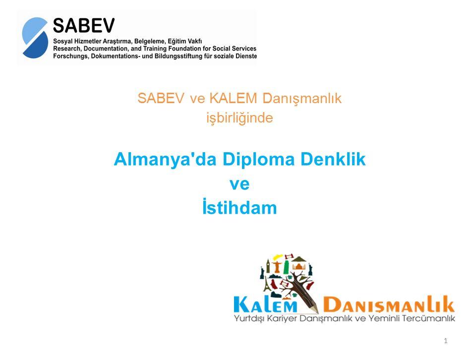 Almanya da Diploma Denklik