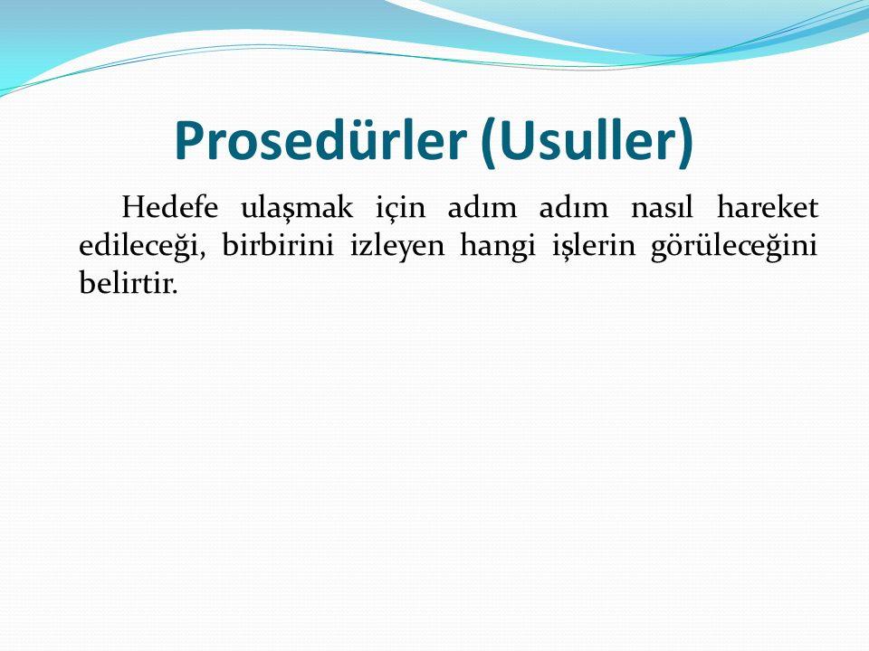 Prosedürler (Usuller)