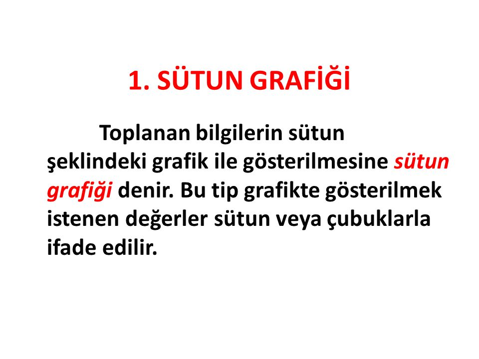 1. SÜTUN GRAFİĞİ