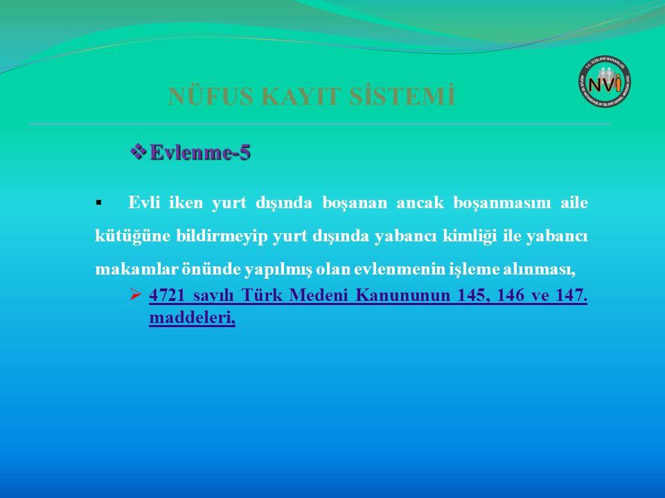 NÜFUS KAYIT SİSTEMİ Evlenme-5