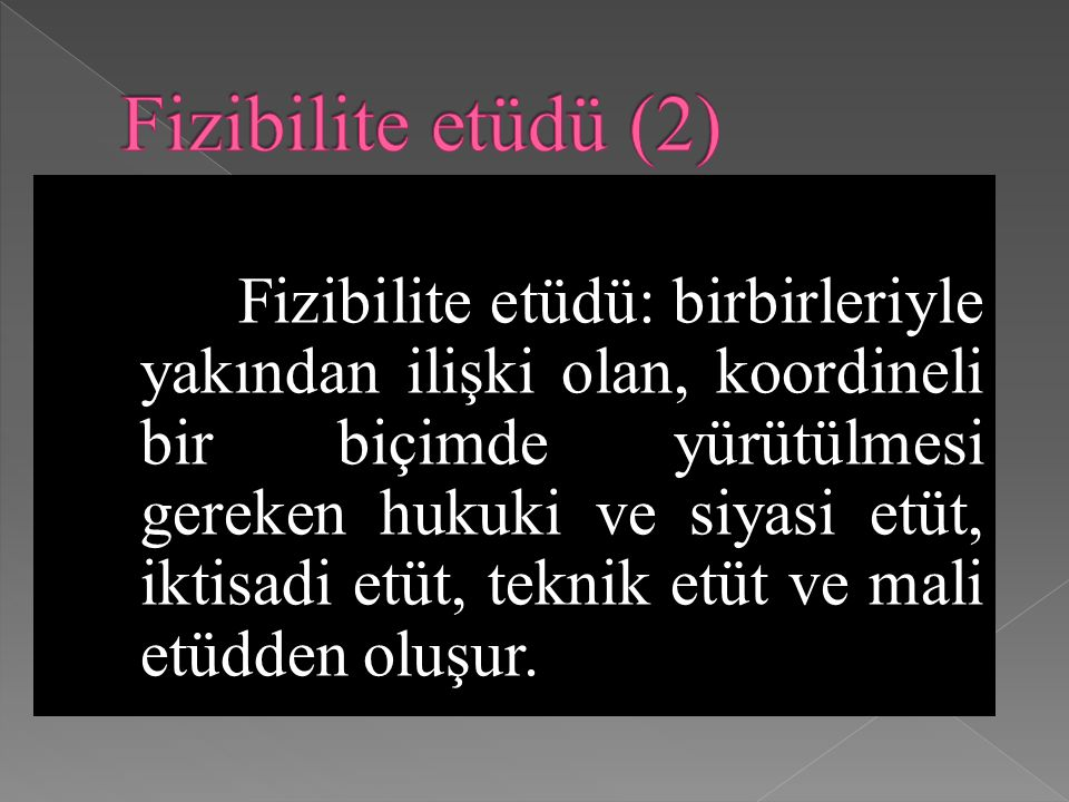 Fizibilite etüdü (2)