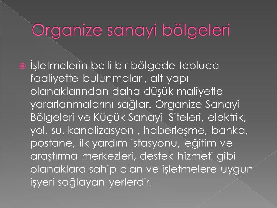 Organize sanayi bölgeleri