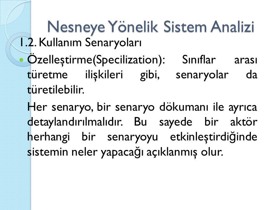 Nesneye Yönelik Sistem Analizi