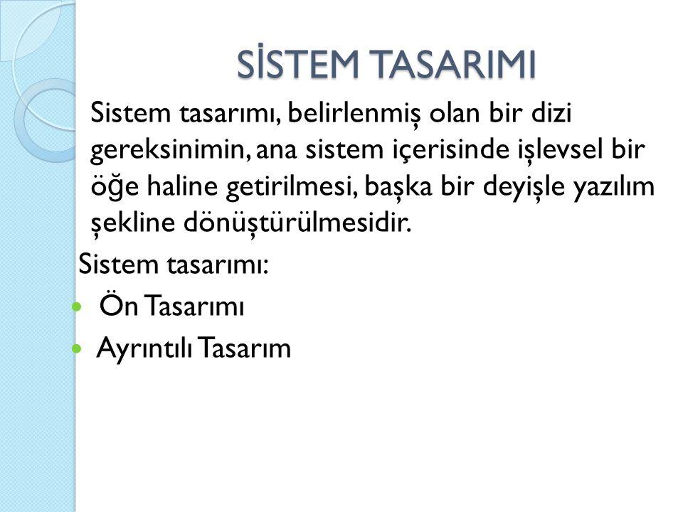 SİSTEM TASARIMI