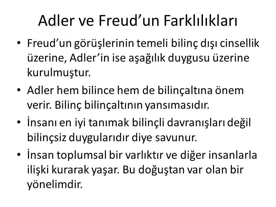 Adler ve Freud'un Farklılıkları
